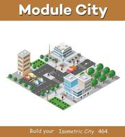 Urban industrial isometric 3d architectural flat plan vector