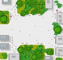 vista superior de la ciudad. mapa de la ciudad de fondo vector