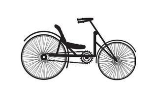 viejo, vendimia, bicicleta, silueta, retro vector