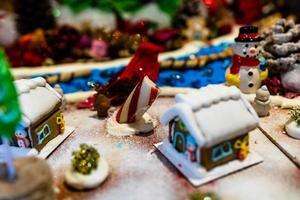 colorida casa de pan de jengibre foto