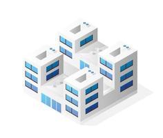 Isometric house building skyscraper concept vector