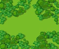 Top view of the countryside with forest vector