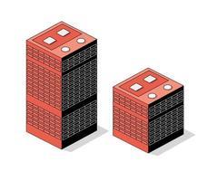 Isometric 3d module block district part vector