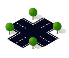 calle de la ciudad la calle es una carretera vector