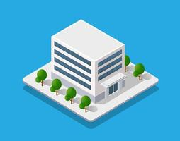 Isometric city with roads with streets vector