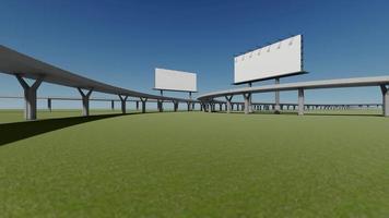Rendering footage of billboard beside highway video