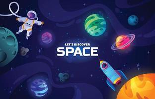 Discover Space Background vector
