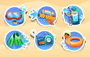Fun Activity on Summer Time vector