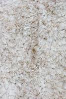 White fur rug photo