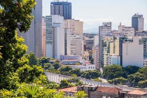Buildings of the city center in Rio de Janeiro, Brazil photo