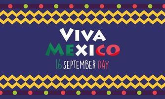 día de la independencia mexicana, festival de banderas de colores viva mexico se celebra en septiembre vector