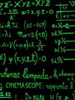 Mathematical calculations on a black background photo