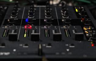 Mixing board close-up photo