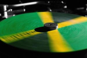 Dj turntable in Jamaican colours photo