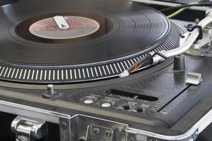 DJ Turntable close-up photo
