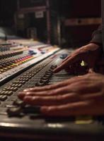 Dj use a mixer photo