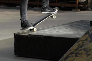 detalle de habilidad de skate foto