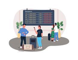 vuelos cancelados 2d vector web banner