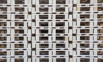 A wall of wood pallets photo