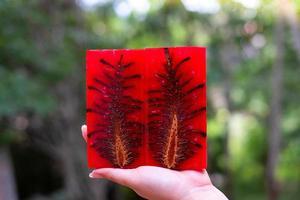 cono de pino estabilizador de resina epoxi de fundición foto