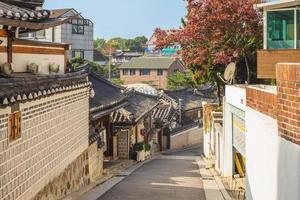 Historic Bukchon Hanok Village in Seoul, South Korea photo