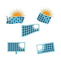 Ilustración de imágenes de logotipo de energía solar vector
