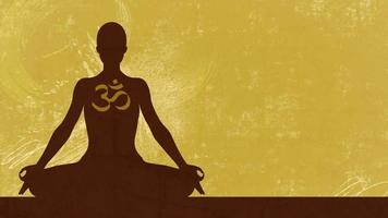 Silhouette illustration of Yoga video