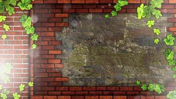 hermoso fondo de pared de ladrillo video