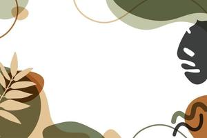 Abstract modern background with organic shapes. Flat Vector Illustration.