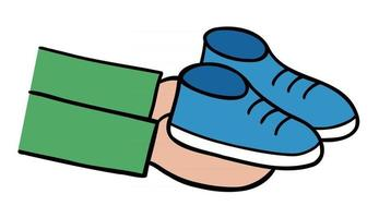 Cartoon Vector Illustration of Gift New Shoes