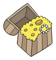 Cartoon Vector Illustration of Treasure Chest