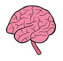 Cartoon Vector Illustration of Human Brain