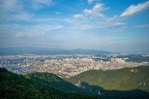 Aerial view from Aspan park at Daegu in South Korea photo
