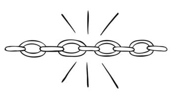 Cartoon Vector Illustration of Strong Solid Chain