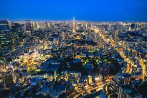 Skyline of Tokyo city in Japan photo