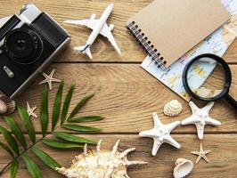 Summer holiday background. Travel concept photo