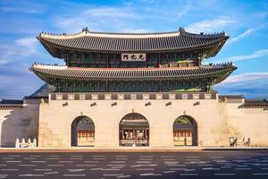 Gwanghwamun, main gate of Gyeongbokgung Palace in Seoul, South Korea photo
