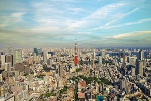 Aerial view of Tokyo in Japan photo