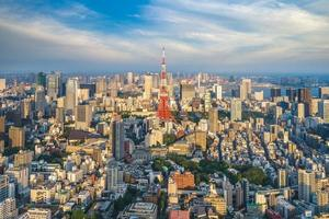 Aerial view of Tokyo city in Japan photo