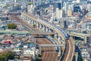 Railway and metro system of Tokyo in Japan photo