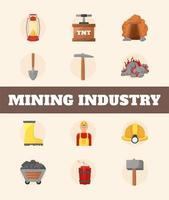 mining industry items vector