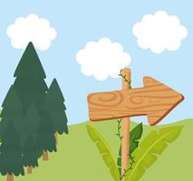 arrow wood poster vector