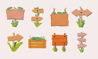 wooden signs illustration vector