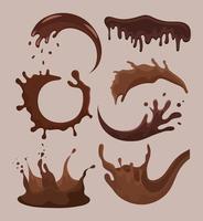 seven liquid chocolates vector