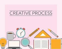 creative process poster vector