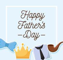 cartel del día del padre vector