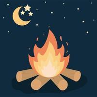 bonfire and skyknight vector