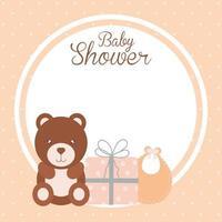 diseño de baby shower vector