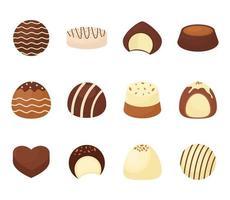 sweet chocolate bundle vector