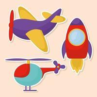 kids illustration set vector
